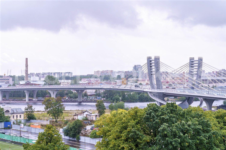 Элитные квартиры в Петроградском районе. Санкт-Петербург, Петровский пр.,5. Панорамный вид с высоты 9-го этажа