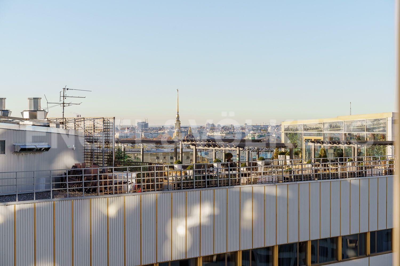 Элитные квартиры в Центральном районе. Санкт-Петербург, Большой Сампсониевский проспект, 4-6. Вид на город из окон гостиной