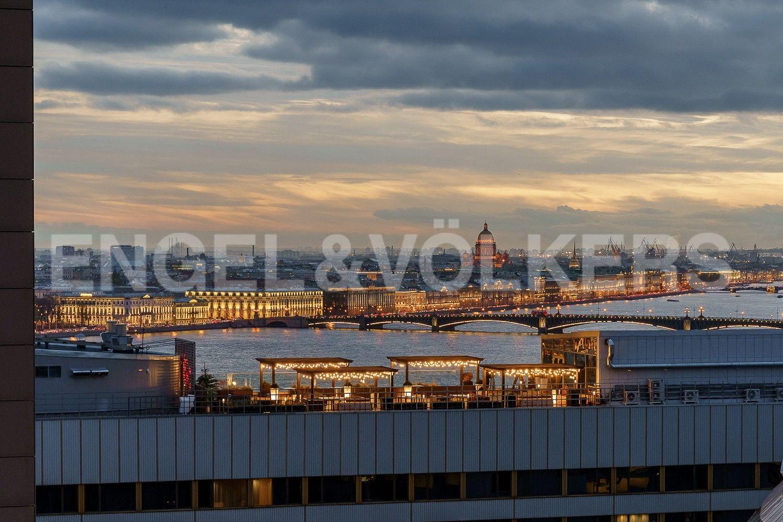 Вид из гостиной на панораму Петербурга