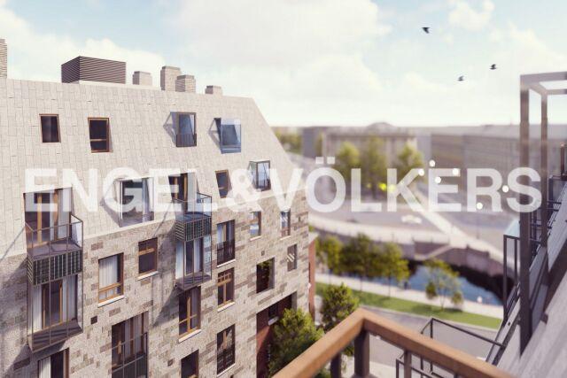 Meltzer Hall – статусная квартира с арочными окнами роскошной кухни-гостиной с видом на ул. Профессора Попова