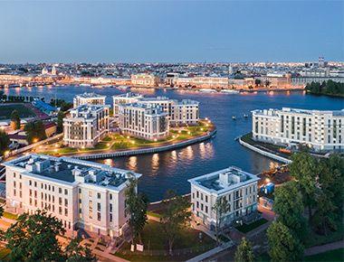 Royal Park – элитный комплекс апартаментов на Петровском острове с собственной мариной и территорией 3 га