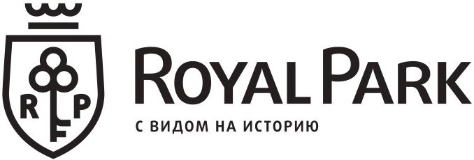 Логотип Royal Park – элитный комплекс апартаментов на Петровском острове с собственной мариной и территорией 3 га